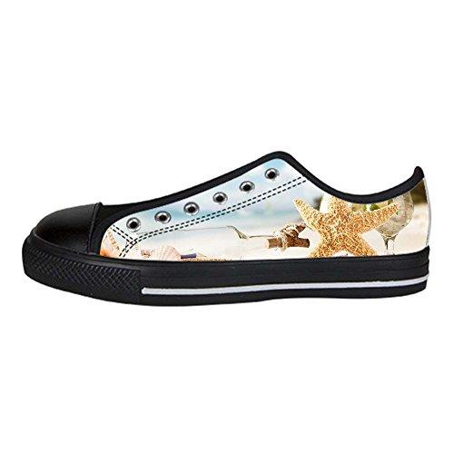 Stelle Women's Scarpe Spiaggia Shoes Alto I Lacci Marine Tetto Canvas Custom Delle Da Ginnastica IqExzwHqF