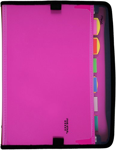 Five Star Expanding File, 7-Pocket Expandable Folder, Customizable, Berry Pink/Purple (38218)