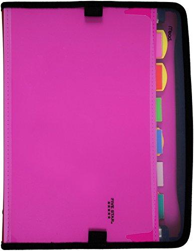 Five Star Expanding File, 7-Pocket Expandable Folder, Customizable, Berry Pink/Purple (38218)