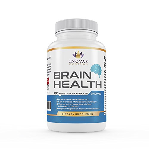 Brain Support Supplement by Inovas Nutrition, Improve Memory, Focus and Brain Function, Natural Nootropic Formula, Made in USA, 60 Capsules