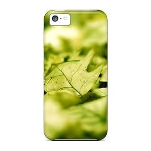LJF phone case Excellent Design Green Leafs Phone Case For iphone 4/4s Premium Tpu Case