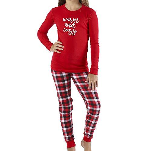 BOLUOYI Bodysuits Baby Boy Long Sleeve Toddler Christmas Family Lattice Xmas Kid Adult Sleepwear Nightwear Romper Red 6M ()