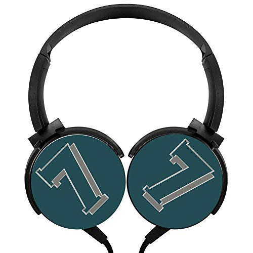Wired Stereo Headphone Number 7 Noise Cancelling Over Ear Headphones with Microphone Portable Headset Earphone Earpiece