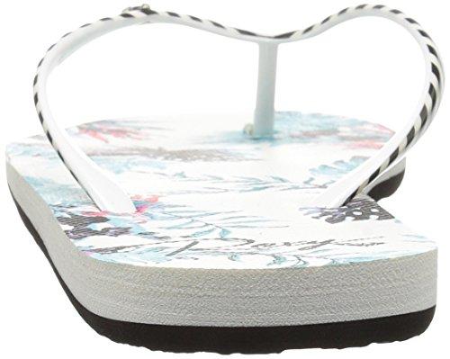 Roxy Women's Portofino Flip Flop White/Amazon 245rLhwmvU