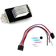 Blower Motor Resistor Complete Kit With Harness - Replaces# 15 81773, 89018778, 89019351, 1581773, 15-81773 - Fits Chevy Silverado, Tahoe, Suburban, GMC Sierra, Yukon & more - AC Heater Control Module