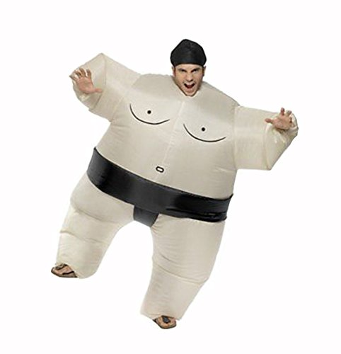 Sumo Suit Halloween Costume (Inflatable Sumo Wrestler Wrestling Suits Halloween Costume Party Costume, Adult Size)