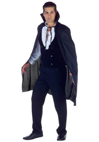 [Underwraps Men's 38 Inch Sheer Cape, Black, One Size] (Black People Costumes Ideas)