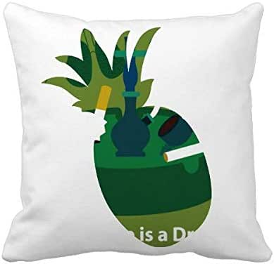 OFFbb-USA Logo Cigarette is A Drug Pineapple Throw Pillow Square Cover