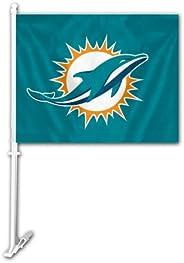 NFL Unisex Car Flag W/Wall Brackett