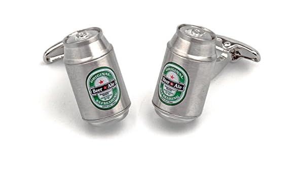 SoloGemelos - Gemelos Lata Cerveza - Plateado - Hombres - Talla Unica: SoloGemelos: Amazon.es: Joyería