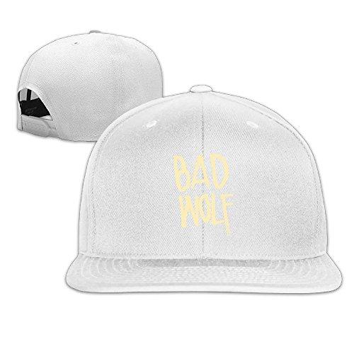 [Runy Custom Bad Wolf Adjustable Baseball Hat & Cap White] (Biker Teen Costumes)