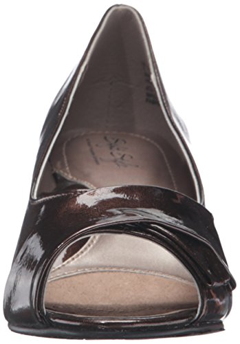 Soft Style by Hush Puppies Aubrey Breit Synthetik Stöckelschuhe Mid Brown Pearlized Patent