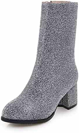 657455ff5 Gcanwea Sock Boots Women Shoes Zip Up High Heels Dropship Mid Calf Boots  Female Shoes Woman