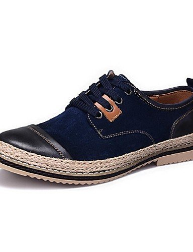Ei&iLI Zapatos de Hombre Oxfords Casual Ante Sintético Azul / Marrón / Naranja , brown-us9.5 / eu42 / uk8.5 / cn43 , brown-us9.5 / eu42 / uk8.5 / cn43 brown-us9.5 / eu42 / uk8.5 / cn43