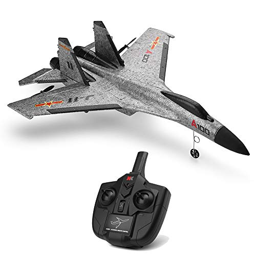 Ama-store Remote Control Airplane, RC Plane Drone with 2.4GHz Control Flying Aircraft for Indoors/Outdoors Flight Toys, Built in 6 Axis Gyro System, EPP Composite Material (Gray)