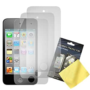 Cbus Wireless Three LCD Screen Guards / Protectors / Films for Apple iPod Touch 4 / 4G / 4th Gen