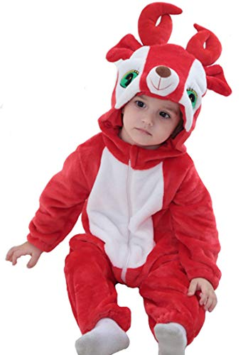 Tonwhar Inflant and Toddler Animal Onesie Cosplay Costume (70(Height:22