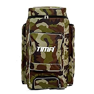 Tima Camo Duffle Kit Bag – Green with Two Sided Bat Pocket and Shoe Compartment