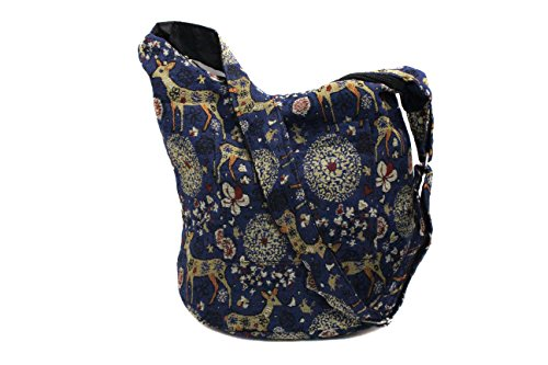 K'Long Brocade - Women Large Cross Body Shoulder Handbags/Purse (Brocade Fabric) ... (Cross body L14)