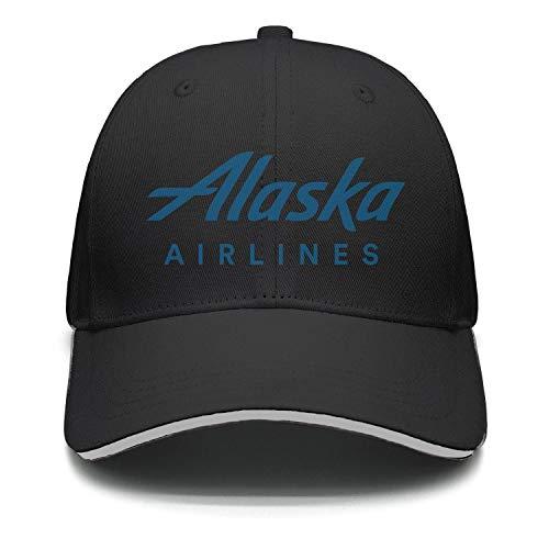 Ruslin Alaska Airlines Logo Women Men Snapback Hat Adjustable Summer caps (Alaska Airlines Lost And Found Phone Number)