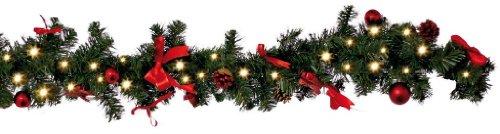werchristmas weihnachtsdekoration 9 ft beleuchteter weihnachtsgirlande beleuchtet mit 40. Black Bedroom Furniture Sets. Home Design Ideas