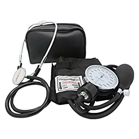 Santamedical Adult Deluxe Aneroid Sphygmomanometer with Stethoscope, Cuff and Carrying case