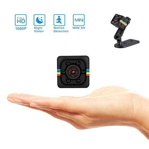 Mini Hidden Camera 1080P 720P Video Recorder Digital Cam Micro Full HD IR Night Vision Smallest DV DVR Camcorder Digital Small HD Super Portable with Motion Detection for Home Car Drone Office by Esimen
