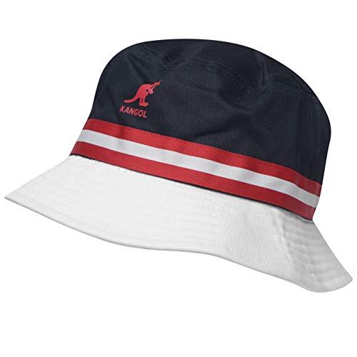 - Kangol Men Stripe Bucket Hat Navy/Red L/XL