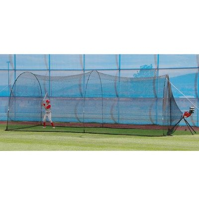 Heater Sports BaseHit Pitching Machine and PowerAlley Batting Cage