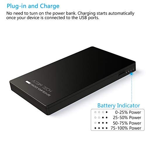 Amazon.com: Attom Tech - Cargador de batería externa para ...