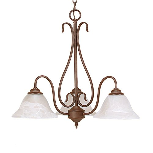 Millennium Lighting 793-BZ 3-Light Chandelier in Bronze