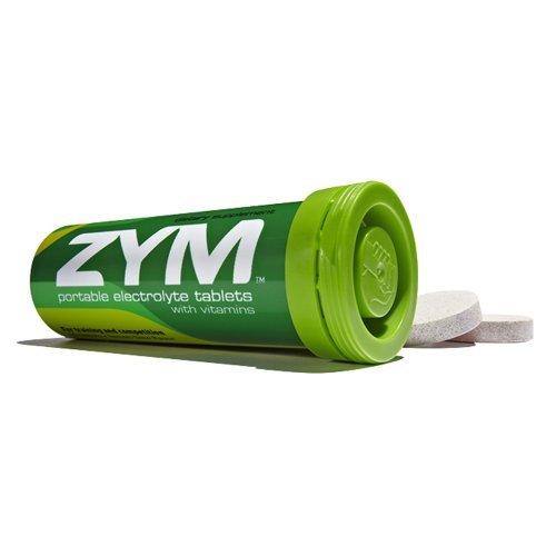 ZYM Endurance Electrolyte Drink Tabs, Lemon Lime, 1 Tube,10-.16oz.(4.5g) tablets. by ZYM
