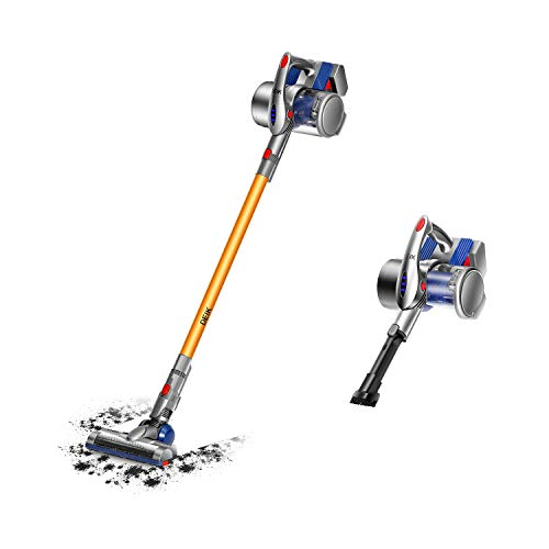 Cordless Vacuum, 2 in 1 Vacuum Cleaner, Cordless Stick Handheld Vacuum with Detachable Longer-Lasting Battery & Wall-Mount