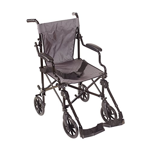 Dmi Lightweight Folding Transport Chair Travel Wheelchair