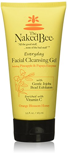 The Naked Bee Everyday Facial Cleansing Gel, 5.5 Ounce, Orange Blossom Honey