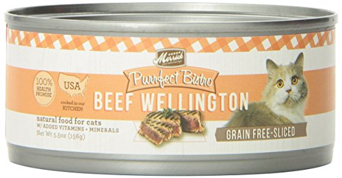 Merrick Purrfect Bistro Grain Free Beef Wellington Canned Cat Food, 5.5 oz, Case of 24 For Sale