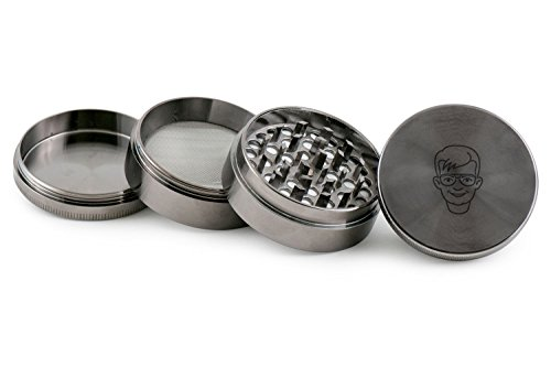 nerd-herb-and-spice-grinder-4-piece-stainless-steel-weed-grinder-with-laser-etched-designs-2-inches