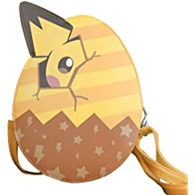 YOURNELO Boy's Girl's Pokemon Pocket Monsters Pikachu Egg Crossbody Handbag Purse