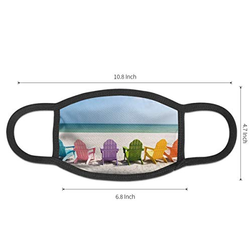 Dust Mask Summer Beach Chair Fashion Anti-dust Reusable Cotton Comfy Breathable Safety Mouth Masks Half Face Mask for Women Man Running Cycling Outdoor