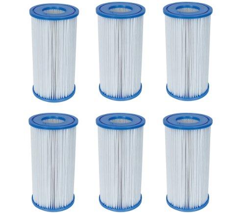 - Bestway Swimming Pool Filter Pump Replacement Cartridge Type III 58012 (6 Pack)