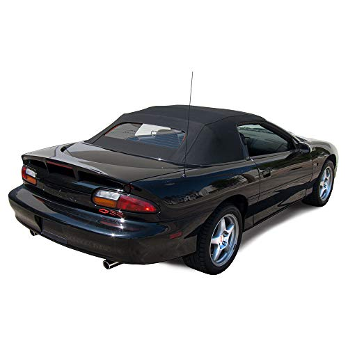 Sierra Auto Tops Chevy Camaro/Pontiac Firebird 1994-2002 Convertible Soft Top Replacement, w/Glass Window, Stayfast Cloth, Black (Parts Camaro Convertible)