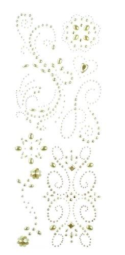 Swirl Pearl Paper - K&Company Adhesive Gem Stickers, Pearl Swirl