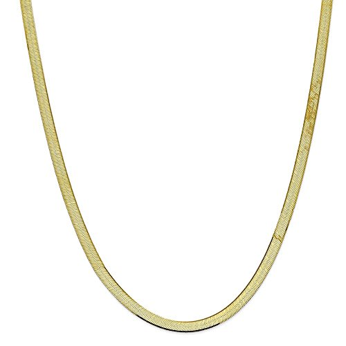 10k Yellow Gold 5.5mm Silky Herringbone Chain 24in Necklace by Diamond2Deal