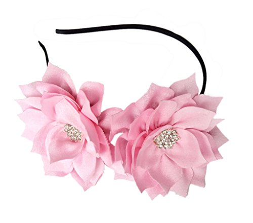 Fascinator Headband Hair Clip Lotus Flower Bridal Headpieces Wedding Party Cocktail Headwear (Pink)