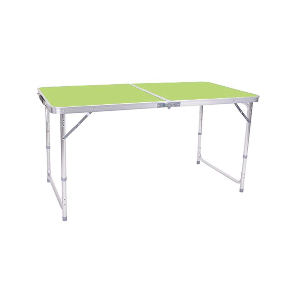 HBWJSH Tavolo da Esterno Tavolo Pieghevole casa Semplice Tavolo da Pranzo Portatile (colore   verde)