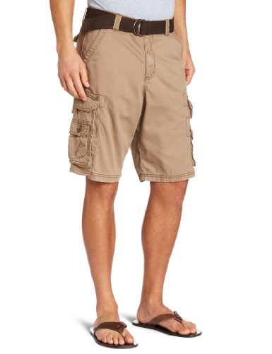 Lee Men's Big-Tall Dungarees Belted Wyoming Cargo Short, Bronze, ()