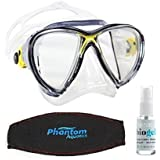 Cressi Big Eyes Evolution Diving Mask, Yellow w/Acc