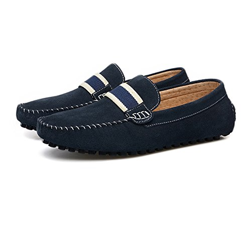 Men's Driving Loafers Suede Genuine Leather Penny Moccasins Slip-on Boat Shoes Cricket Shoes Navy 9TlbgP