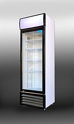 SS-P238WA Commercial Glass Door Upright Display Beverage Cooler 12 cubic foot Refrigerator