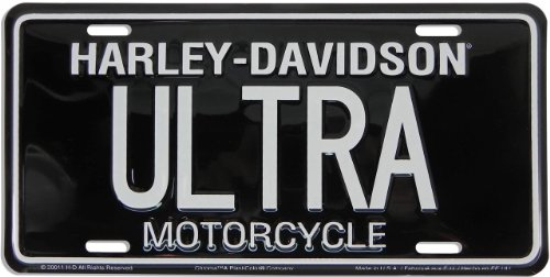 "Harley Davidson ULTRA"" Metal License Plate from Redeye La..."